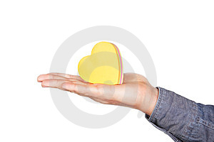 The Shape Of Heart On The Palm. Royalty Free Stock Images - Image: 24031519