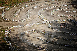 Stone And Shell Labyrinth Stock Photo - Image: 24032040