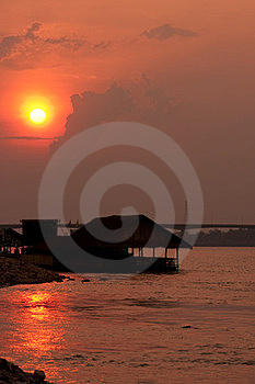Mekong River, Thailand And Laos Royalty Free Stock Photo - Image: 24037835