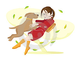 Girl And Dog. Royalty Free Stock Photography - Image: 24037907
