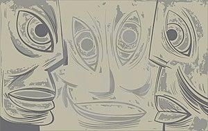 Three Sad Tired Faces Stock Photos - Image: 24041243