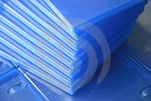 Plastic Blu Ray  Cases Royalty Free Stock Photo - Image: 24043305