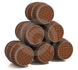 Old Wooden Barrels Stock Photography - Image: 24044912