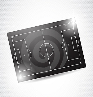 Abstract Soccer Tactics Board Royalty Free Stock Images - Image: 24045209