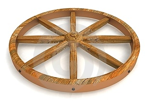 The Old Wheel Stock Images - Image: 24047504