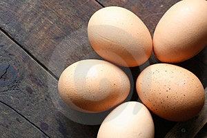 Eggs On Wood Stock Photo - Image: 24052560
