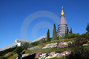 Pagoda And Flower Stock Photos - Image: 24056453