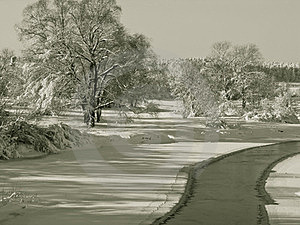 Winter Landscapes Royalty Free Stock Photos - Image: 24058468