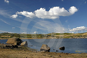 Landscape With Lake Royalty Free Stock Images - Image: 24061259