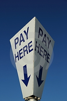 Pay Here Stock Photo - Image: 24063700