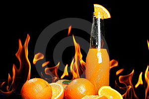 Hot Orange Drink Royalty Free Stock Photo - Image: 24069595