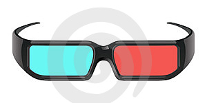3D Cinema Glasses Royalty Free Stock Photo - Image: 24072195