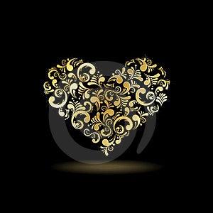 Floral Heart Shape Stock Image - Image: 24072301