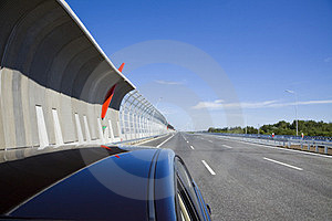 Highway With Protection Walls Stock Photography - Image: 24072692