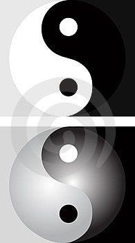 Background With Yin Yang Stock Photography - Image: 24076522