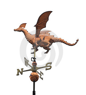 Dragon Weather Vane Isolated Royalty Free Stock Photo - Image: 24078265
