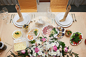 Wedding Table For Newlyweds Stock Photography - Image: 24084972