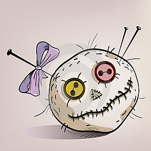 Pincushion With Eyes Royalty Free Stock Image - Image: 24090756