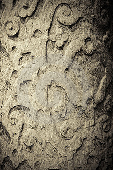 Old Wall Relief Stock Image - Image: 24091301