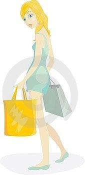 Shopper Girl Royalty Free Stock Images - Image: 24096899