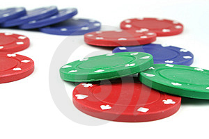 Poker Chips Royalty Free Stock Image - Image: 2412286