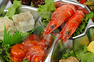Shrimp Tray Detail Stock Photography - Image: 2414222
