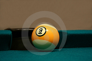 Nine Ball By Side Pocket Stock Image - Image: 2414581