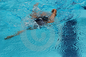 Concurrence De Natation Image stock - Image: 2415781