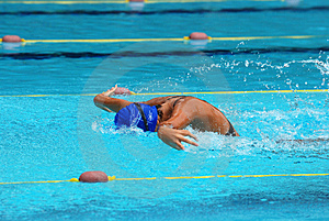 Concurrence De Natation Photo stock - Image: 2415790