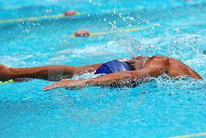Concurrence De Natation Photos stock - Image: 2415793