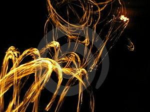 Spinning Fireballs Royalty Free Stock Image - Image: 2417276