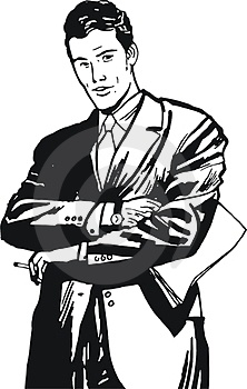 Illustration Of A Businessman, Royalty Free Stock Photography - Image: 24107037
