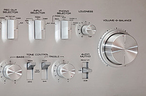Analog Stereo Volume Knob Control Royalty Free Stock Image - Image: 24123346