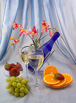 Two Glasses Of Wine Royalty Free Stock Photo - Image: 24125575