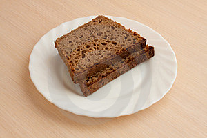 Handmade Black Bread On Plate Royalty Free Stock Images - Image: 24132939