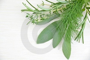 Culinary Herbal Leaves On The Board Royalty Free Stock Image - Image: 24133476