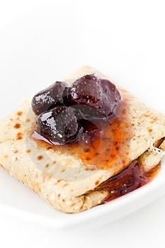 Pancakes With Jam Stock Images - Image: 24135044