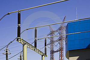 High Voltage Power Isolators Royalty Free Stock Images - Image: 24135089