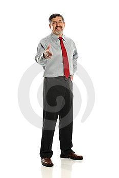 Mature Businessman Extending A Hanshake Stock Photos - Image: 24138493