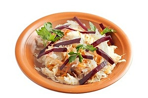 Delicious Sauerkraut Closeup With Beet And Parsley Royalty Free Stock Photos - Image: 24145068