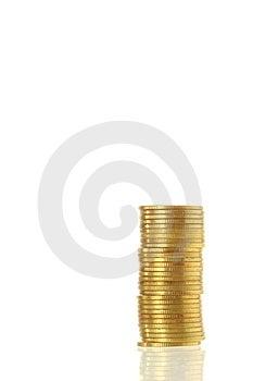 Gold Coin Heap Royalty Free Stock Photos - Image: 24151028