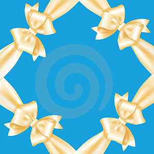 Frame Of Yellow Ribbons And Bows Stock Images - Image: 24157284