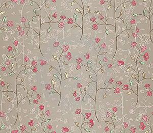 Seamless Leaves Wallpaper Stock Image - Image: 24160101