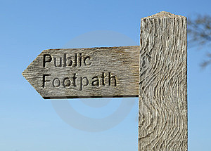 Public Footpath Stock Photography - Image: 24160802