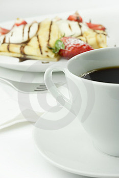 Coffee And Pancake Stock Images - Image: 24161074