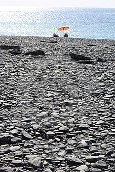 Black Pebble Beach Stock Photo - Image: 24161730
