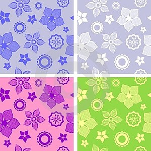 Seamless Flower Pattern Stock Images - Image: 24167984