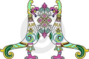 Ornamental Bird Royalty Free Stock Images - Image: 24171029