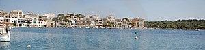 Panoramic Porto Colom Royalty Free Stock Image - Image: 24183156