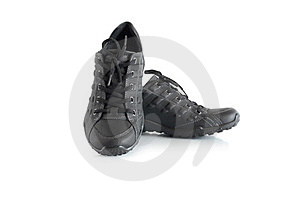 Black Sport Shoes Royalty Free Stock Photo - Image: 24183195
